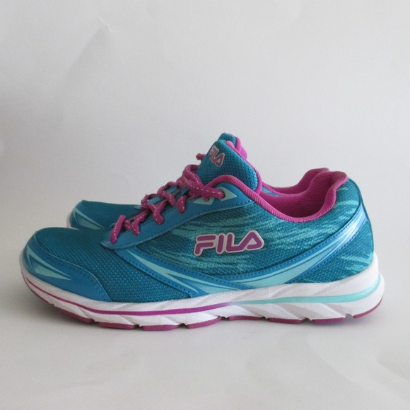 Fila Memory Foam Cool Max Blue Athletic Shoes 7.5